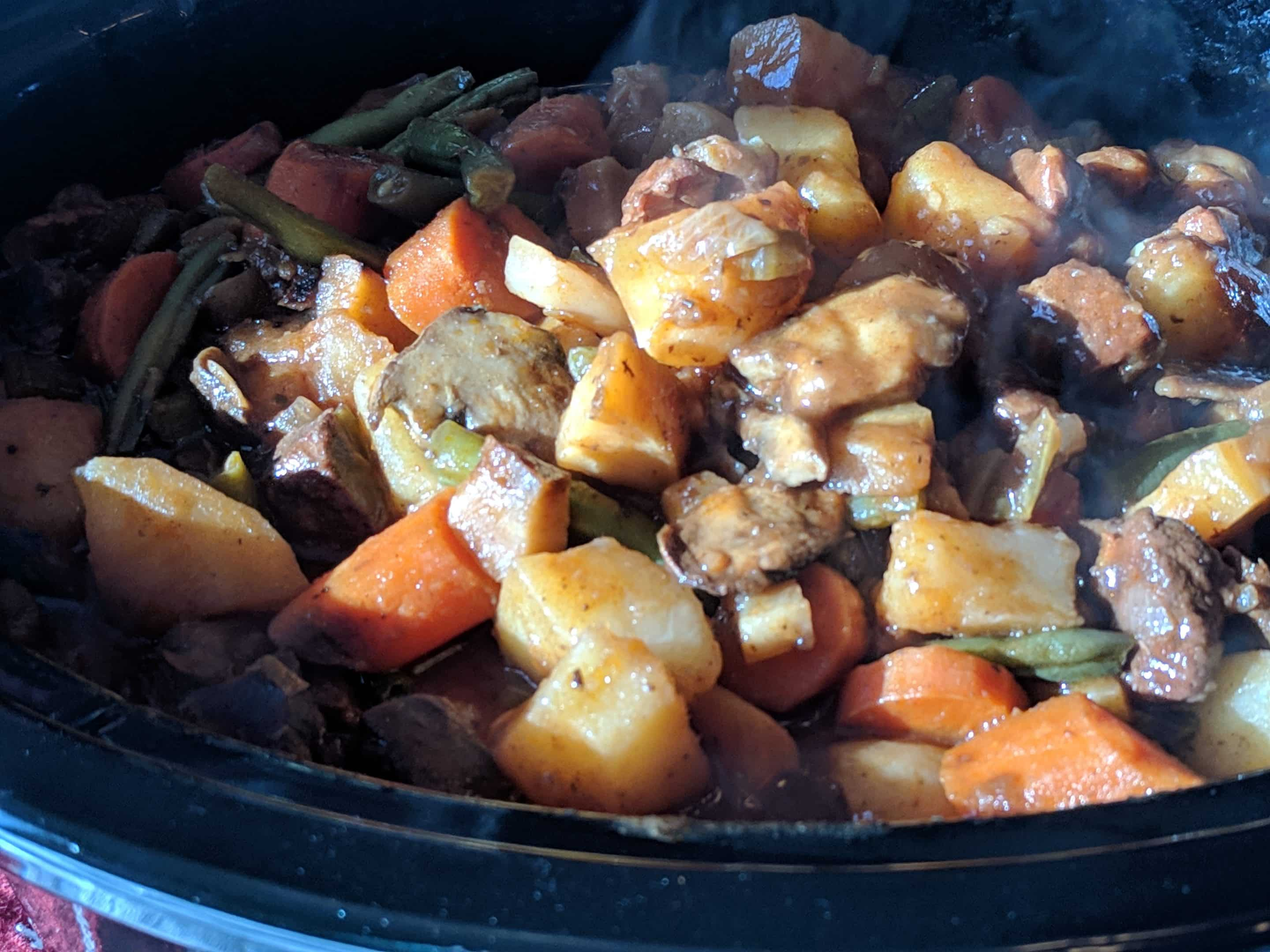 Roasted Veggie And Beef Stew