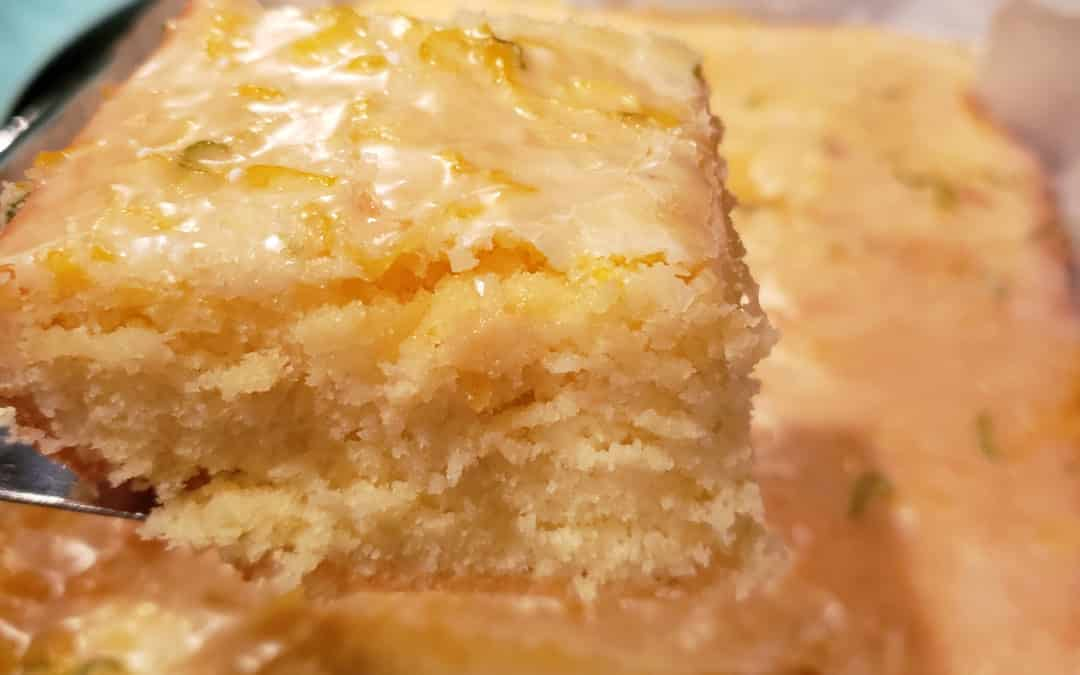 Lemon Lime Glazed Brownies