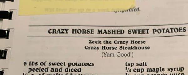 Crazy Horse Mashed Sweet Potatoes