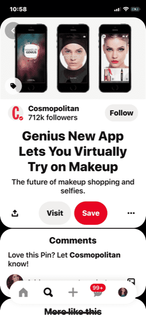 Technology and makeup!