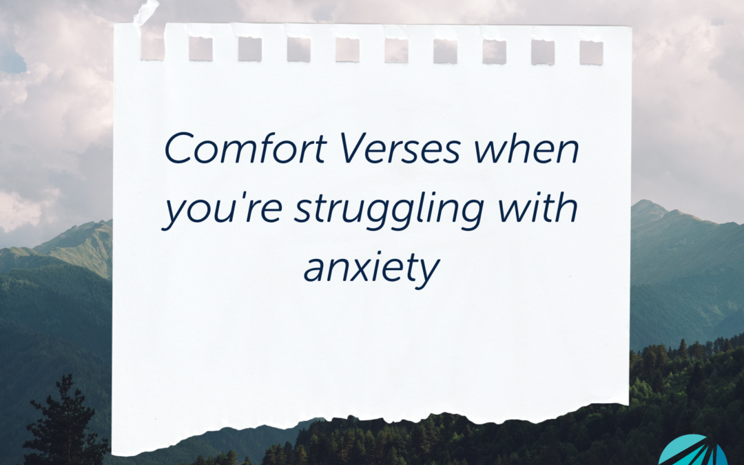 Comfort Verses for Anxiety
